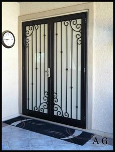 Installing a storm door is one of the most intelligent home repairs you could take on before cold loss and winter months. Read Best Storm Doors Ideas You Have to Know Wrought Iron Security Doors, Steel Security Doors, Wrought Iron Doors, Security Screen, Home Gate Design, Home Room Design, Door Design, Best Storm Doors, Double Storm Doors