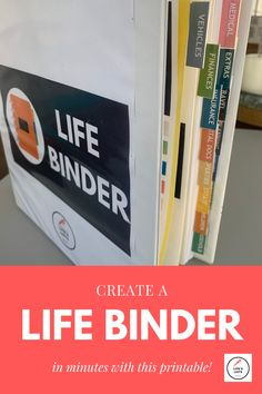 Organize Your Important Household Information with A Life Binder - Livable Solutions Organizing Important Papers, Paper Binder, Emergency Binder, Household Binder, Home Binder, Home Management Binder, Binder Organization, Life List, Cleaning Hacks