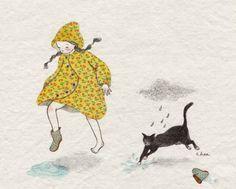 181번째 이미지 splashing in puddles with the cat