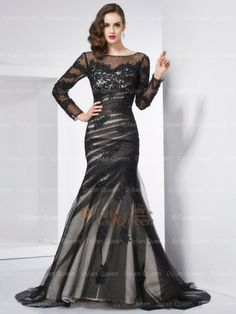 Prom Dress For Teens, Fashion Trumpet/Mermaid Long Sleeves Applique Jewel Long Net Dresses cheap prom dresses, beautiful dresses for prom. Best prom gowns online to make you the spotlight for special occasions. Prom Dresses 2016, Mermaid Prom Dresses, Cheap Prom Dresses, Bridesmaid Dresses, Formal Dresses, Bride Dresses, Wedding Dresses, Robes D'occasion, Chiffon Dress Long