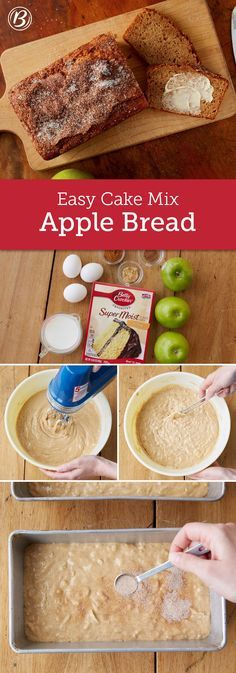 A simple and delicious way to capture the flavors of fall in a quick bread, topped with just the right amount of irresistible cinnamon-sugar crunch! Granny Smith apples were used in the testing of this recipe, but feel free to choose your favorite baking apple from your area, such as McIntosh, Braeburn or Jonathan.