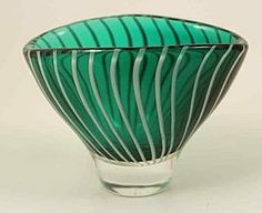 Art Glass Bowl, Vicke Lindstrand, Kosta