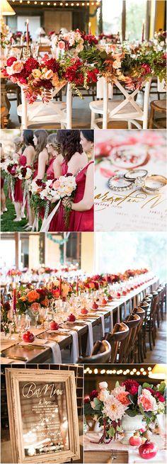 Featured photographer: Josh Gruetzmacher Photography; red wedding color ideas