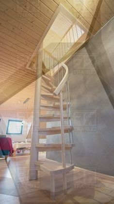 6 Clever Cool Tricks: Attic Bedroom For Girls attic transformation tips.Attic Design Scrapbook Pages small attic remodel. Attic Staircase, Loft Stairs, House Stairs, Iron Staircase, Attic Apartment, Attic Rooms, Attic Spaces, Attic Playroom, Attic Bathroom