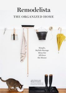 "Remodelista: the organized home is a beautiful book. As the tagline states, the book has ""simple, stylish storage ideas for all over the house."" The book i"