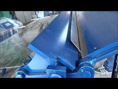 Sheet Metal Bender Brake The Make (DIY) & First Use Stainless Steel BBQ - YouTube