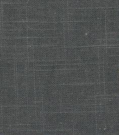 Robert Allen @ Home Upholstery Fabric-Linen Duck Charcoal $19/yd
