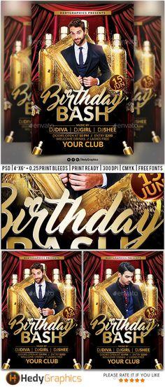Event Flyer Design Templates Home u003e Flyer Templates u003e Club - birthday flyer template