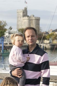 Father and daughter in la Rochelle (France)