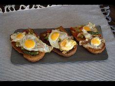 Saboreando las estrellas: Montaditos Tostas o Pinxos de verduras con huevos de codorniz