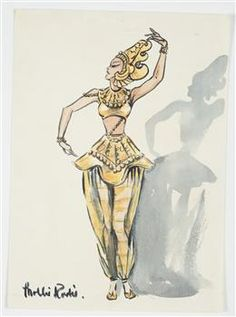 Costume design for Pageant of Empire [Siamese dancer] - Collections Online - Museum of New Zealand Te Papa Tongarewa