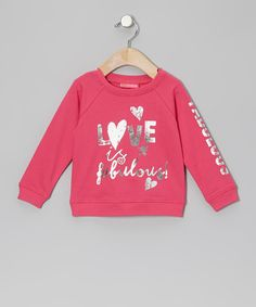 Look at this #zulilyfind! Dark Pink 'Love Is Fabulous' Sweatshirt - Infant & Toddler by Kidtopia #zulilyfinds