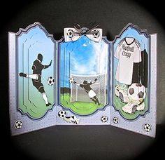Football 3 Panel Screen 3D Card Kit