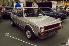 #Volkswagen #Golf #GTI au salon Auto Moto Retro Dijon. Reportage complet : http://newsdanciennes.com/2016/03/19/grand-format-a-lauto-moto-retro-dijon/ #ClassicCar #Voiture #Ancienne #Vintage