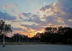 Summer sunset in Sherman, Texas, Aug. 2011.