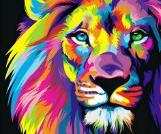Pretty colorful lion only if it could be made into a blanket