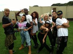 Little Mix and the boy dancers :)
