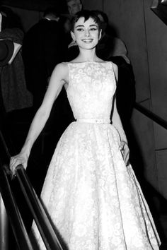 1954 - Audrey Hepburn lead the trend for couture at the Oscars with her Hubert de Givenchy-designed gown. This occasion, when she won the Oscar for Roman Holiday at the 26th Annual Academy Awards, was the first time that Hepburn was seen in Givenchy; the couturier remained her style-maker for the rest of her life.