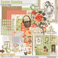 Easter Sunday Collection Biggie Digital Scrapbooking Kit by Brandy Murry   ScrapGirls.com