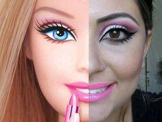 barbie makeup, not my style, but that's kinda awesome :P