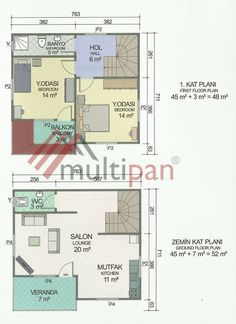MPX2 100 Square Meters Separate Lounge / Kitchen 2 Bedrooms 2 Bathrooms Prefabricated Houses, Ground Floor Plan, Square Meter, Separate, Bathrooms, Floor Plans, Lounge, How To Plan, Bedroom