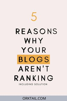Here are the reasons why your blogs are not ranking including solutions for how to fix these problems. #bloggingforbeginners #blogging #blogs #SEOforbeginners #blogranking Digital Marketing Services, Seo Services, Content Marketing, Social Media Marketing, Seo For Beginners, Writing Services, Search Engine Optimization, A Team, How To Start A Blog