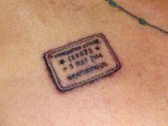 Heathrow Passport Stamp - London Tattoo, UK