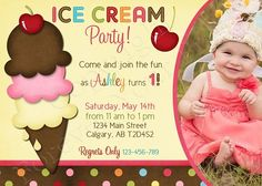 Ice Cream Birthday Invitations Ideas For Evan Make Your Own Free Printable Templates