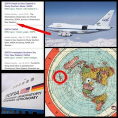 """Random musings. This is NASA's SOFIA. It's a flying """"space"""" observatory that operates near New Zealand. If the telescope was designed to peer deep into """"space,"""" wouldn't it be better to aim it UP instead of OUT. Unless, the purpose of SOFIA was to look out across the expansive Antarctic terrain..."""