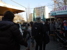 Tasty cuisine at various stands at Mauerpark
