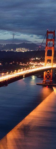 San Francisco, California - Definitely go check out the Golden Gate Bridge at night!