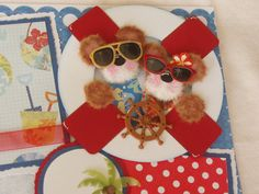 Tear Bear Cruise Vacation Summer Tropical by kariskraftkorner3301