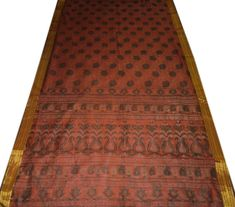 Impartial Vintage Sari Border Antique Hand Embroidered Indian Trim Sewing Orange Lace Embellishments & Finishes