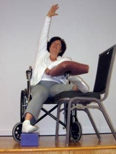 Adaptable yoga for individuals that use wheelchairs. Yoga can help with stress relief.