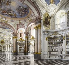 Picking favourites: Dr Campbell, 45, says that his favourite is the library at Admont Abbey in Austria, the largest monastery library in the...