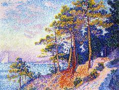 The Customs House Pathway, Saint-Tropez, 1905. Paul Signac