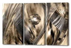 'Abstract Jungle Triptych' by Scott J. Menaul 3 Piece Graphic Art on Wrapped Canvas Set