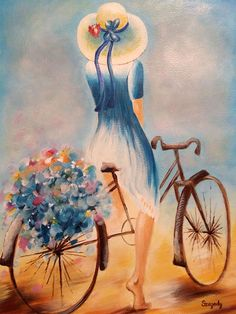 Szegedy Tamara akinek a rajzolás igazi terápia - Painting Subjects Simple Acrylic Paintings, Abstract Paintings, Watercolor Paintings, Indian Art Paintings, Bicycle Art, Pastel Art, Beautiful Paintings, Art Pictures, Art Drawings