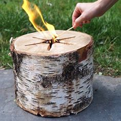 Swedish Fire Log Candle and Eco Torch
