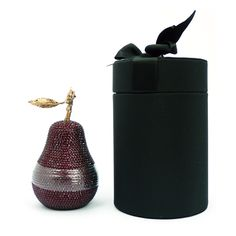 D.L. & Co Swarovski Crystal Pear Candle & Box. Available from HouseofRokoko.com