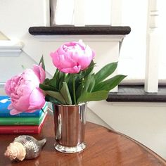 peonies in a mint julep cup Instagram photo via @ zhush