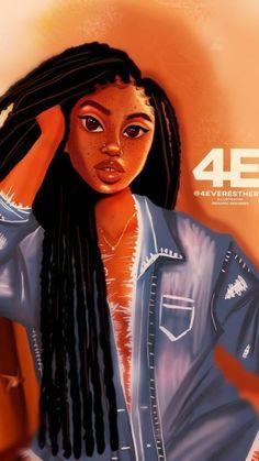 Black Love Art, Black Girl Art, Black Girls Rock, Black Is Beautiful, Black Girl Magic, Black Art Painting, Black Artwork, Afro Hair Drawing, Black Women Quotes