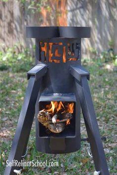Helius Rocket Stove Review~SelfReliantSchool.com