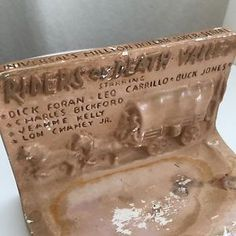 Vintage 1941 Riders of Death Valley Western Movie Chalkware Ashtray Universal | eBay