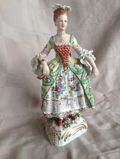 Sitzendorf Porcelain Manufactory (Thuringia, Germany) —   Woman Figure (750x1000)