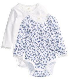 Blue/Floral Longsleeved 2-Pk | H&M US