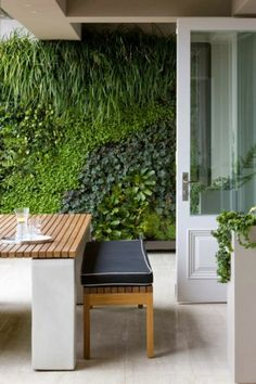 green wall at home