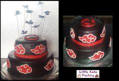 Akatsuki-Kuchen # Naruto # Itachi - Little Cake Factory - Was auch immer , Naruto Birthday, Ninja Birthday Parties, 11th Birthday, Birthday Cake, Itachi, Naruto Party Ideas, Bolo Naruto, Anime Cake, Cute Themes