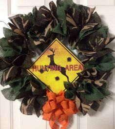 Hunting Zone Camo Wreath by Katskraftymeow on Etsy