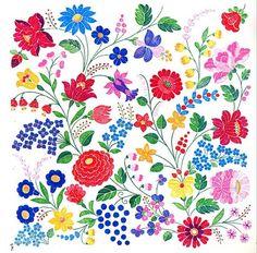 Embroidery of Kalocsa, Bács-Kiskun county, Hungary Lengyel Hungarian Embroidery, Learn Embroidery, Crewel Embroidery, Embroidery Patterns, Indian Embroidery, Stitch Head, Chain Stitch Embroidery, Embroidery Techniques, Craft Patterns